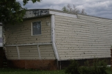 Hail damaged home in Millet