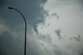 Possible funnel cloud