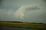 Back of old Moose Jaw storm with possible double funnel clouds