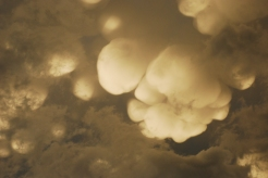 Detail of mammatus clouds