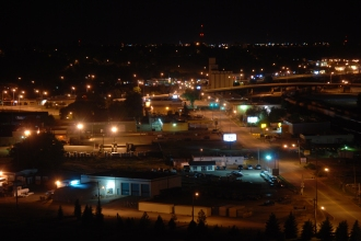 Medicine Hat at night