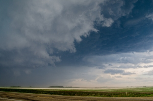 Rfd gust up to 100km/h on the south end of the Leduc storm