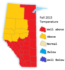 Fall 2015 Temperatures